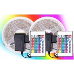 2 db 10 méteres LED - RGB 230 V / 12 V