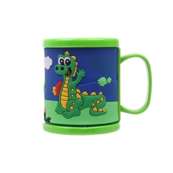 Műanyag bögre gyerekeknek (krokodillal zöld)