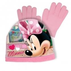 Detská čiapka s rukavicami Minnie Mouse