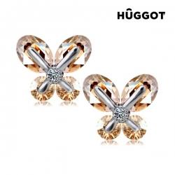 TinkerBell Hûggot ródiumozott fülbevalók cirkóniakövekkel