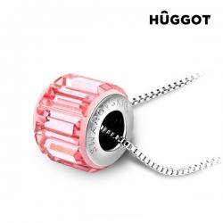 Pink Wheel Hûggot ródiumozott nyakék Swarovski® kristályokkal 45 cm