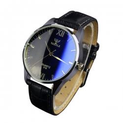 YAZOLE Pánske kožené hodinky