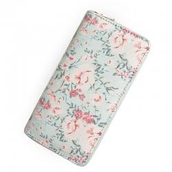 Dámska látková peňaženka s kvetmi