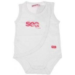 Csecsemőbody ujjak nélkül Sea Mariquita fehér