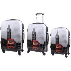 3 darabos bőröndkészlet (Big Ben Bus)