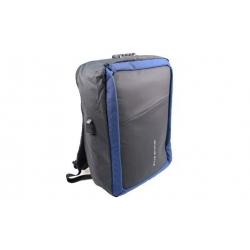Hátizsák/laptoptáska fekete-kék