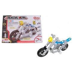 Fém építőkészlet motorkerékpár