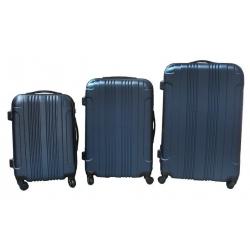 Keményfedeles bőrönd - 3 darabos készlet
