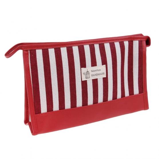 Kozmetická taška s pruhy