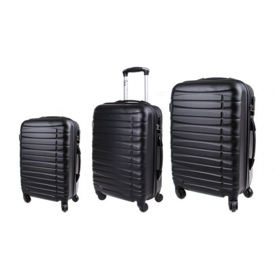 Fekete bőrönd szett - 3 darab