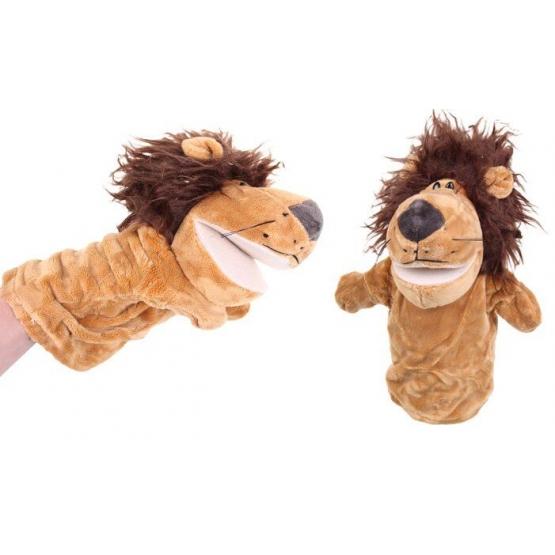 Plüss kesztyűbáb oroszlán
