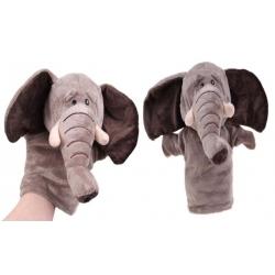 Plüss kesztyűbáb elefánt