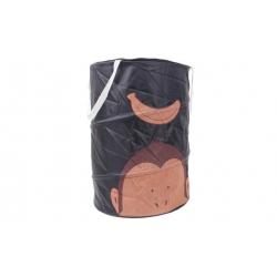 Játék tároló box majom fekete