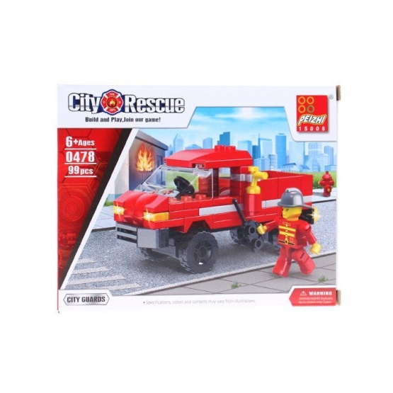 Építőkészlet gyerekeknek tűzoltók