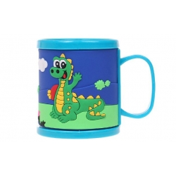 Műanyag bögre gyerekeknek (krokodillal kék)