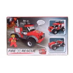 Építőkészlet gyerekenek tűzoltók 3 az 1 -ben
