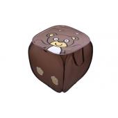 Játék tároló box mackó barna